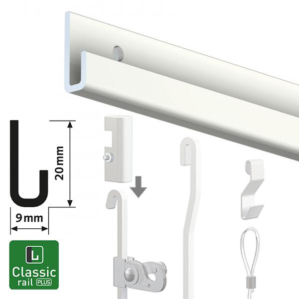 Artiteq Classic Rail Plus white 2.0m