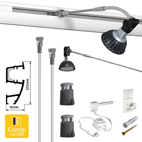 Artiteq Combi Rail Pro Light Hanging Set
