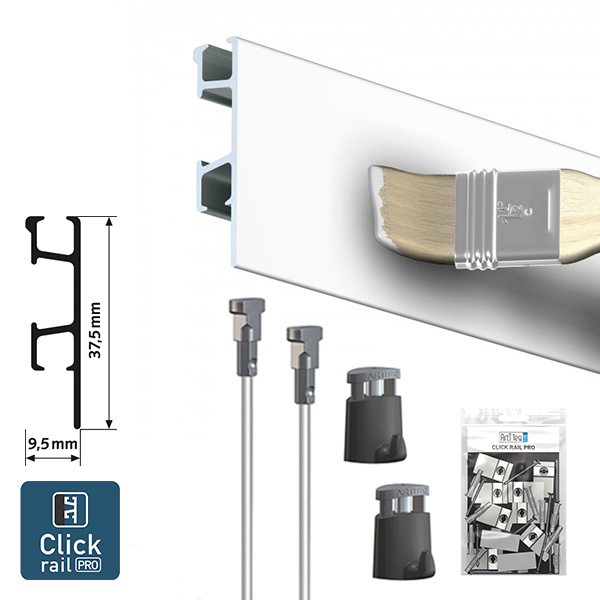 Artiteq Click Rail Pro Gallery Picture Hanging System