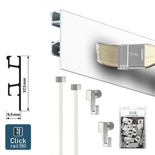 Artiteq Click Rail Pro Art Picture Hanging System