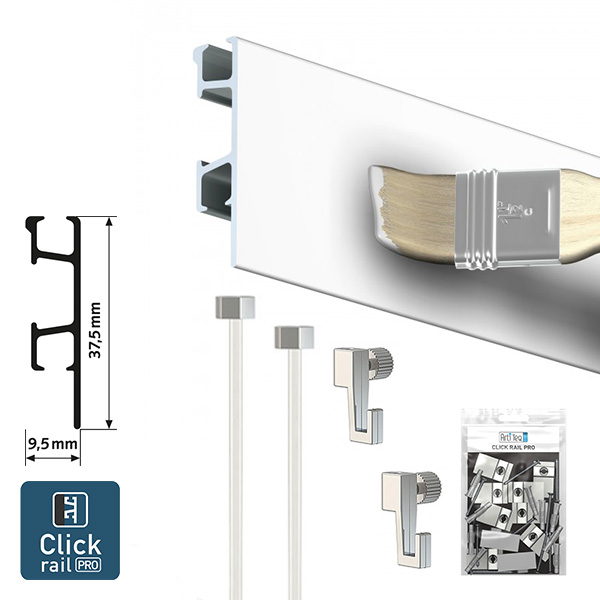 Artiteq Click Rail Pro Art Picture Hanging System