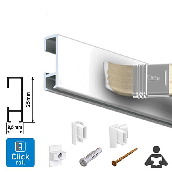 ARTITEQ Click Rail Hanging System white primer