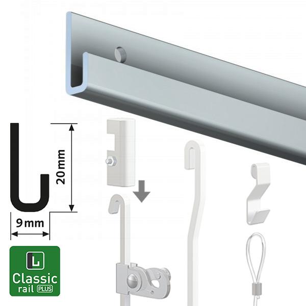 Artiteq Classic Rail Plus aluminium 2.0m