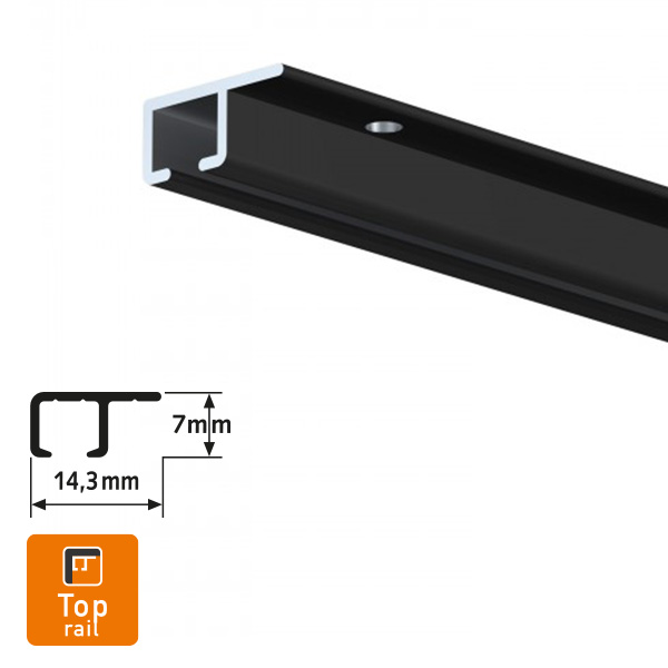 Artiteq Top Rail Black Picture Hanging System