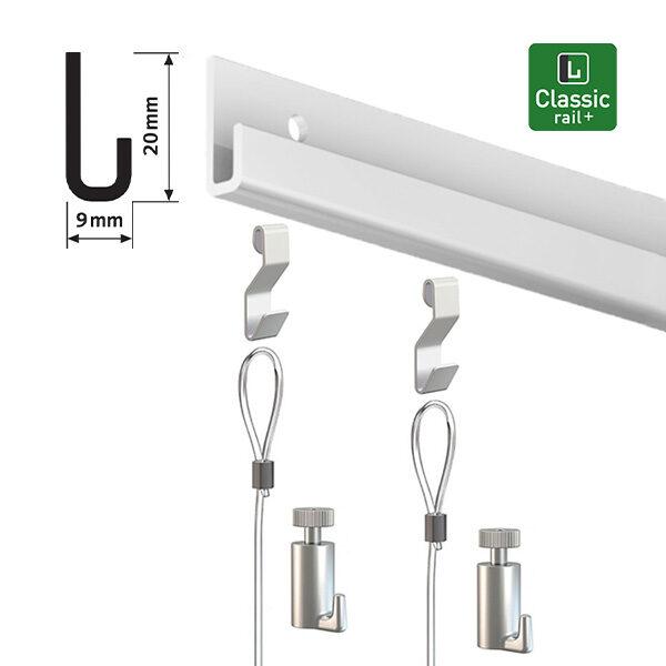 ARTITEQ Classic Rail+ Gallery Hanging Set aluminium 2.0m