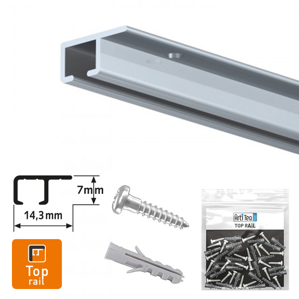Artiteq Top Rail + Installation Kit