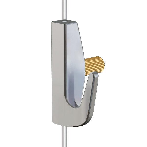ARTITEQ Heavy Brass Hook hanging wire